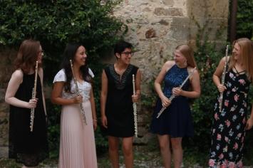 Flutes dressed up